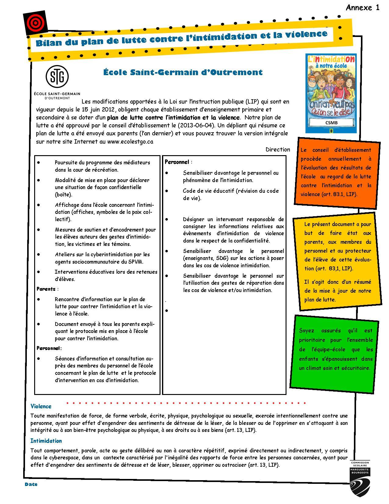 Annexe 1 Diffusion bilan plan de lutte 2014-2015 page 2 corr